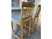 2x Bar Stools Oak frame from Barker and Stonehouse