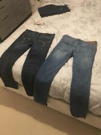CK and FCUK 32/32 men's jeans