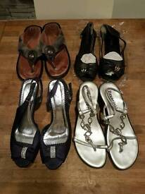 4 pairs of women shoes all size 5