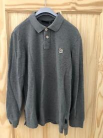 Paul Smith zebra logo long sleeve polo shirt