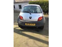 Silver Ford Ka with black bumper for sale