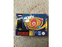 RARE BOXED TITLE SNES SUPER NINTENDO GAME SUPER MORPH