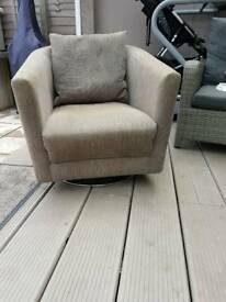 m and s, swivel sprung tub chair