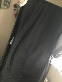 2x Canvas black wardrobes