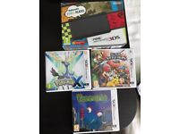 New Nintendo 3DS - Black - With 3 games and charger