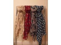 Four ladies scarves - various patterns