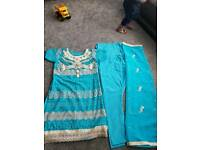 Ladies women's designer indian Punjabi suit dress churrider lengha- size 10/12
