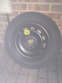 Unused spare wheel and tyre for 55 reg Fiesta