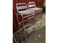2 new aluminium bar stools