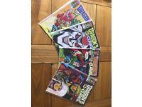 Vintage Marvel Dragons Claws Comic Books - Number's 7-10, in original sleeves, 1988