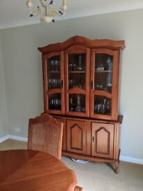 Dresser for kitchen/dining room - wood/glass