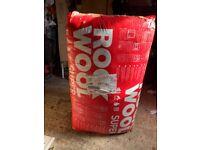 Rock wool loft insulation
