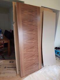 Premium Walnut Internal Doors - 1981mm x 762mm x 35mm ( X4) Slight Damage