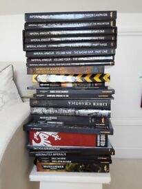 Warhammer 40,000 Games Workshop Forge World RARE books Black Library RARE OOP incl Liber Chaotica