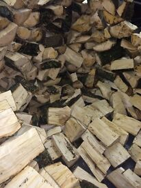 Firewood Logs All 100% BEACH WOOD 1X BUILDERS BAG IDEAL FOR FOOD SMOKER