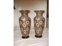 Large Pair Royal Doulton Vases. Circa. 1902-1922. Good Condition