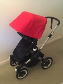 Bugaboo Buffalo Cabriofix travel system black base aluminium silver frame with Family Isofix
