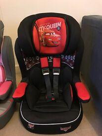 unused Disney lightning MCQueen car seat