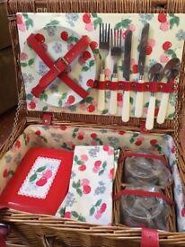 Brand new Cath Kidston 2 person picnic hamper basket
