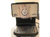 Krups K2 XP402040 Espresso and Cappuccino Machine, Black and Chrome, 1.2 Litres