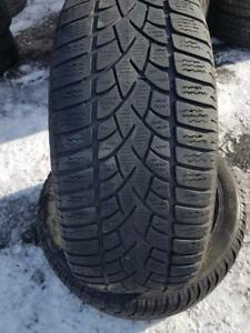 4 PNEUS HIVER - MICHELIN/DUNLOP 225 50 17 - 4 WINTER TIRES