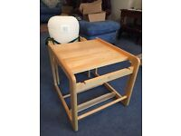 High chair and table