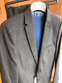 Boys M&S 3 piece grey suit, age 13 to 14, never worn, labels still attached