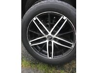5x114.3 set of 16 inch alloys with tyres