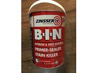 ZINSSER 5 LITRE CAN £60
