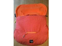 Walking Mum universal Group 0 infant car seat liner, footmuff in excellent condition.