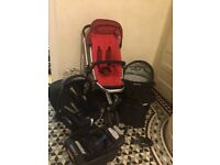 Quinny Buzz Travel System including Iso fix base