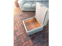 Leather sofa & Leather foot stool & storage
