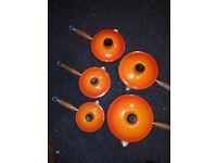 Le Creuset pan set in orange