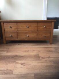 Next solid oak storage coffee table