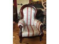 Victorian style large doll/bears armchair