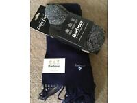 Men's Barbour scarf and socks