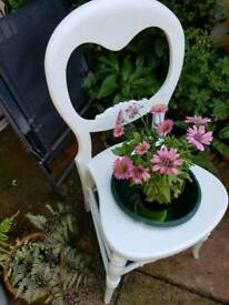 Outdoor vintage chair planter