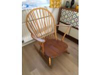 ERCOL mid century vintage grandfather rocking chair