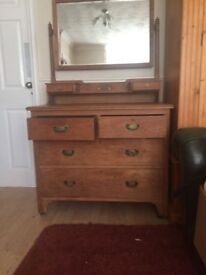 Old Chest of Drawers With Mirror Ideal Project