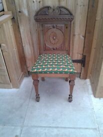 VINTAGE SOLID WOOD CHAIR HALL BEDROOM DINING KITCHEN CHARMING FOX MATERIAL UPHOLSTERY SOUND SOLID