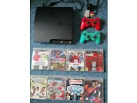 PS3 + 2 wireless controllers + 8 Games + All Leads