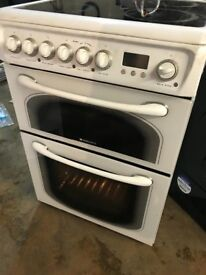 HOTPOINT WHITE ELECTRIC CERAMIC COOKER