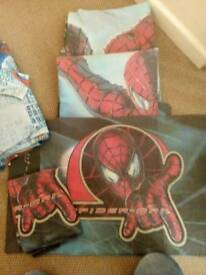 Spiderman bedding /curtains... REDUCED!!!