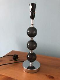 Black and silver lamp base