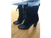 NEXT Real Leather / Suede Boots - Size 8 / 42 - Excellent Condition