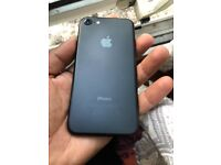 iPhone 7 matt black 128gb unlocked great condition perfectly working selling as upgraded