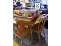 round wooden table and 4 chairs - free delivery