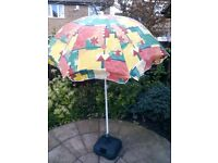 GARDEN PARASOL WITH BASE