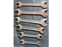 5 x Metric Double Open Ended Spanners 13mm to 32mm DIN895