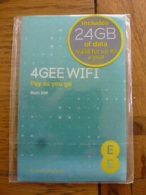 EE 24GB Preloaded 3G/4G data sim card valid for 12 months use in tablets, dongles, Mifi, iphone*
